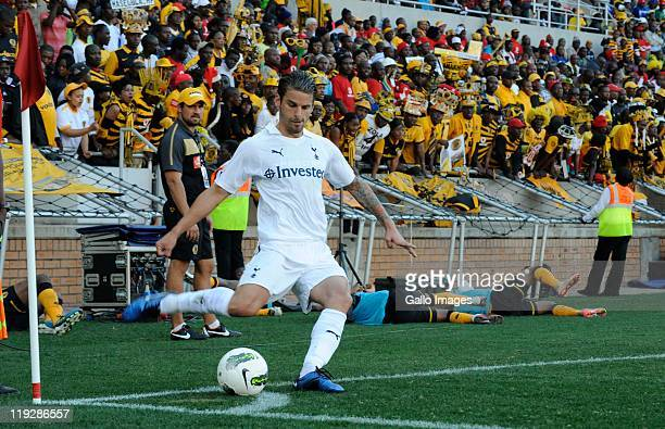 David Bentley of Tottenham during the 2011 Vodacom Challenge match between Kaizer Chiefs and Tottenham Hotspur at Peter Mokaba Stadium on July 16...