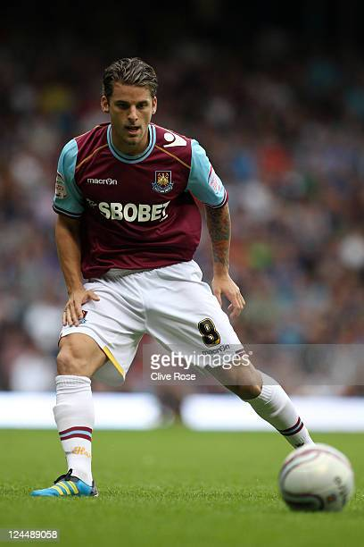 David Bentley of West Ham United in action during the npower Championship match between West Ham United and Portsmouth at Boleyn Ground on September...
