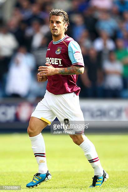 David Bentley of West Ham United looks on during the npower Championship match between Millwall and West Ham United at The Den on September 17 2011...