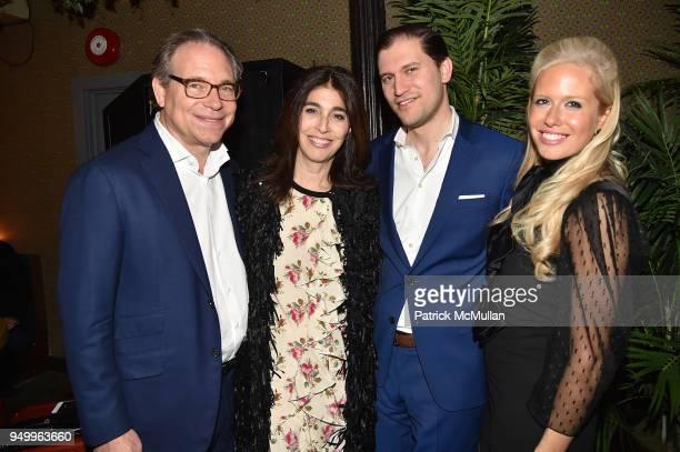 David Berkman Pamela Berkman David Klein and Lisa Klein attend Billy Macklowe's 50th Birthday Spectacular at Chinese Tuxedo on April 21 2018 in New...
