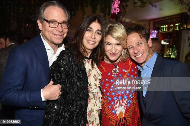 David Berkman Pamela Berkman Julie Macklowe and Billy Macklowe attend Billy Macklowe's 50th Birthday Spectacular at Chinese Tuxedo on April 21 2018...