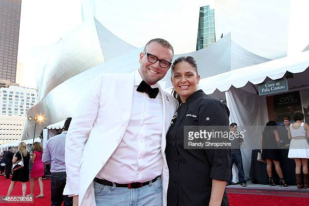 David Bernahl and Chef Antonia Lofaso attend the 5th Annual Los Angeles Food Wine Festival on August 27 2015 in Los Angeles California