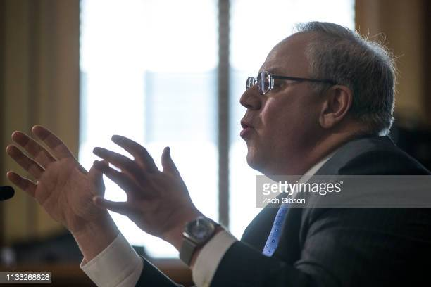 David Bernhardt President Donald Trump's nominee to be Interior Secretary testifies during a Senate Energy and Natural Resources Committee...