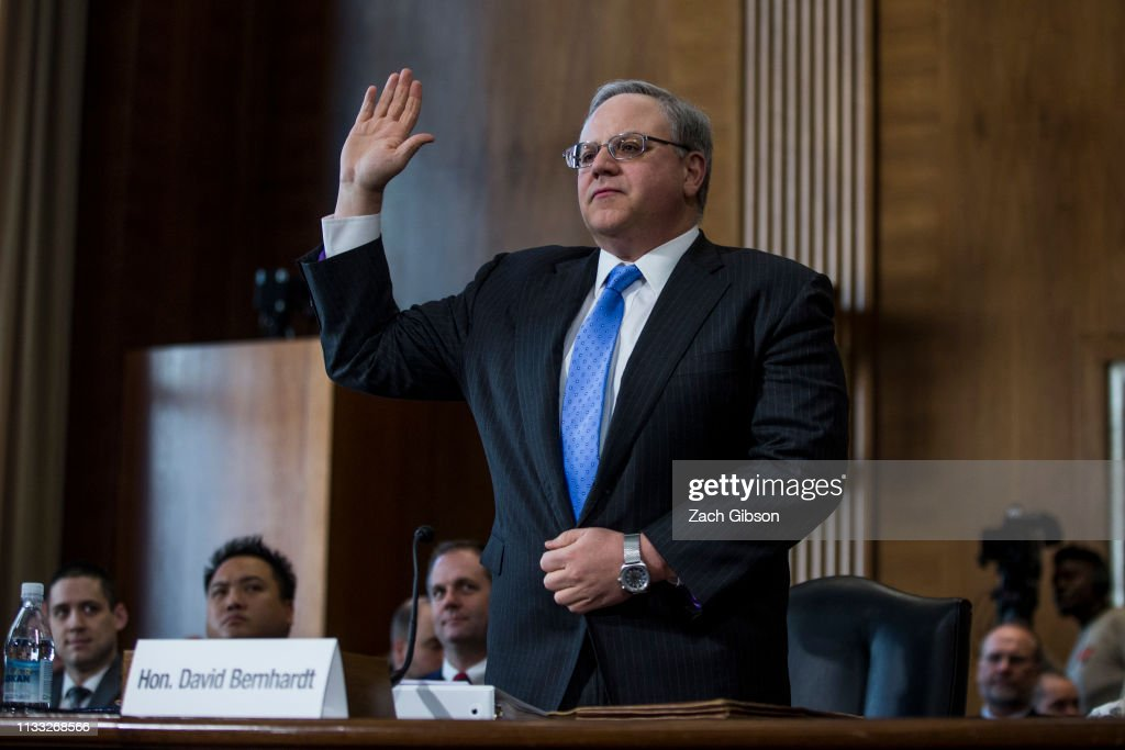 Senate Energy and Natural Resources Committee Holds Hearing On The Nomination Of David Bernhardt For Interior Secretary : News Photo
