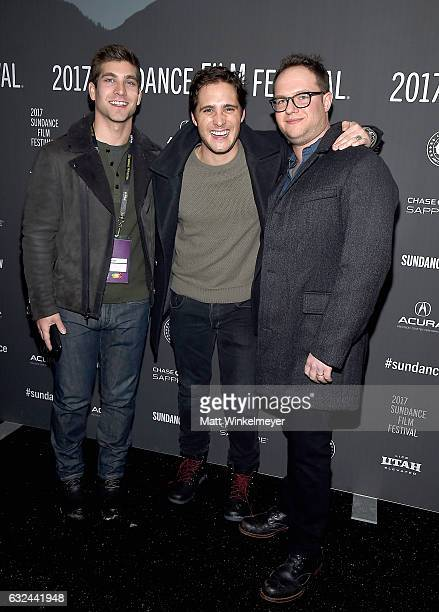 David Bernon Diego Boneta and Sam Slater attend the Lemon Premiere on day 4 of the 2017 Sundance Film Festival at Library Center Theater on January...