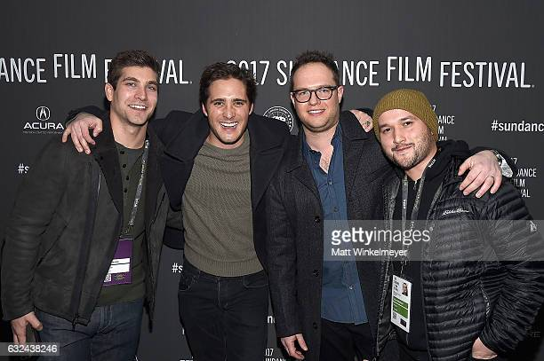 David Bernon Diego Boneta Sam Slater and Adam Butterfield attend the Lemon Premiere on day 4 of the 2017 Sundance Film Festival at Library Center...