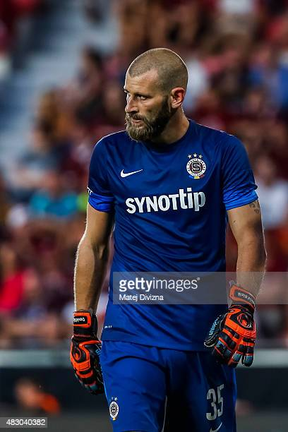 David Bicik of Sparta Prague in action during the UEFA Champions League Third Qualifying Round 2nd Leg match between Sparta Prague and CSKA Moscow...