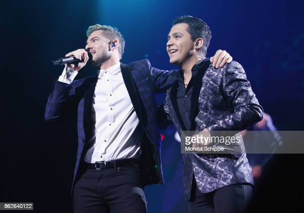 David Bisbal and Christian Nodal perform during the TIDAL X benefit concert powered by BACARDI and hosted by Fat Joe at Barclays Center of Brooklyn...