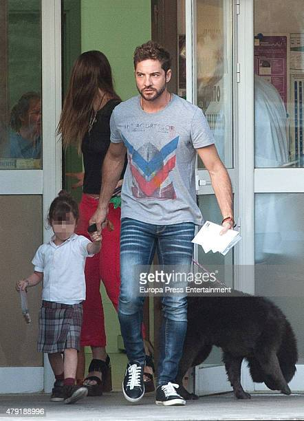 David Bisbal and his daughter Ella Bisbal and 'La China' Suarez are seen on May 11 2015 in Madrid Spain