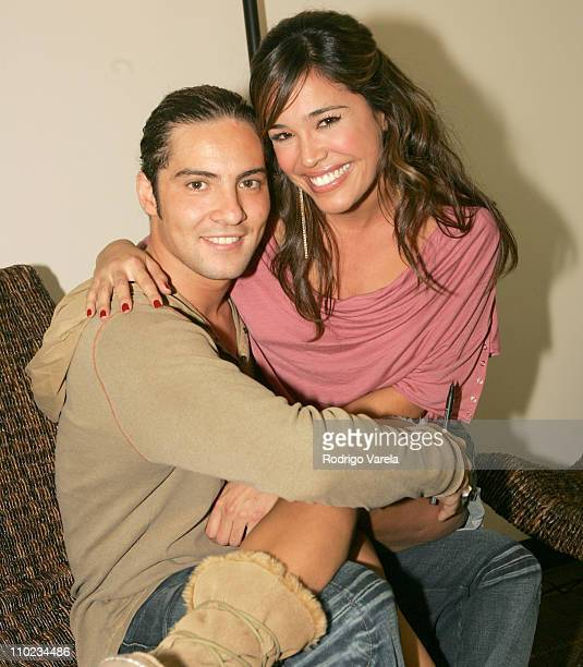 David Bisbal and Karla Martinez during David Bisbal in Concert Backstage December 2 2004 at James L Knight Center in Miami Florida United States