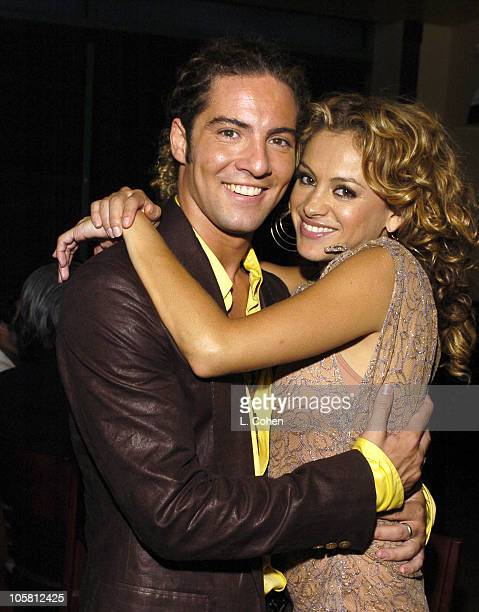 David Bisbal and Paulina Rubio during Universal Latin Music After GRAMMY Party at The Palms in Los Angeles California United States