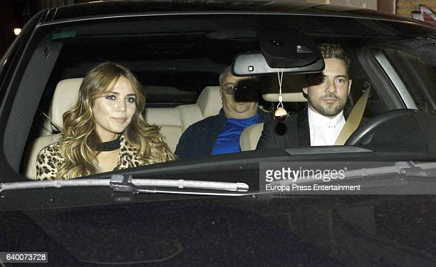 David Bisbal and Rosanna Zanetti are seen leaving a restaurant seen on November 15 2016 in Madrid Spain