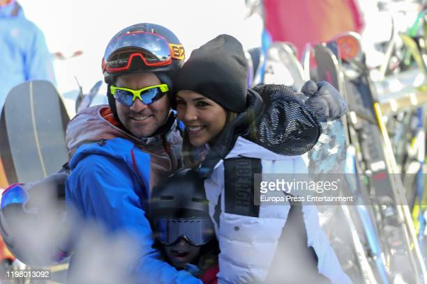 David Bisbal and Rosanna Zanetti are seen on January 04 2020 in Baqueira Beret Spain