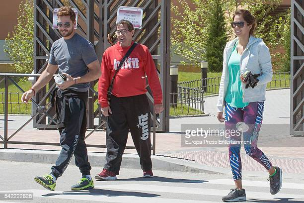 David Bisbal and Rosanna Zanetti are seen on May 02 2016 in Madrid Spain