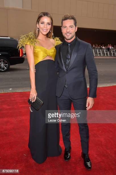 David Bisbal and Rosanna Zanetti attend The 18th Annual Latin Grammy Awards at MGM Grand Garden Arena on November 16 2017 in Las Vegas Nevada