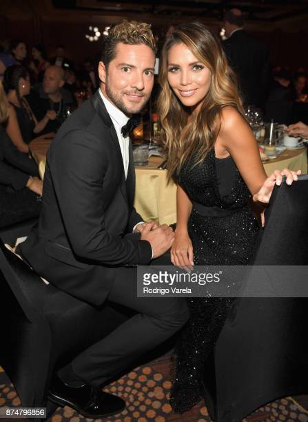 David Bisbal and Rosanna Zanetti attend the 2017 Person of the Year Gala honoring Alejandro Sanz at the Mandalay Bay Convention Center on November 15...