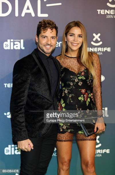 David Bisbal and Rosanna Zanetti attend the 'Cadena Dial' awards photocall on March 16 2017 in Tenerife Spain