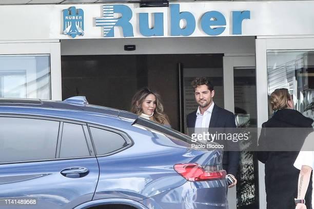 David Bisbal and Rosanna Zanetti present their newborn child on April 09, 2019 in Madrid, Spain.