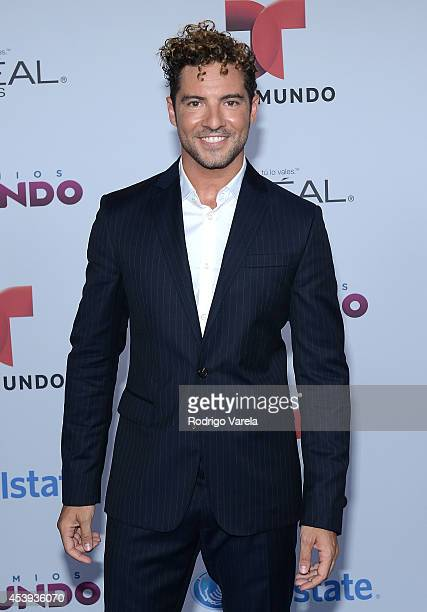 David Bisbal arrives at Premios Tu Mundo Awards at American Airlines Arena on August 21 2014 in Miami Florida