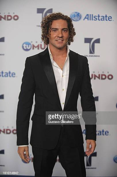 David Bisbal arrives at Telemundo's Premios Tu Mundo Awards at Fillmore Miami Beach on August 30 2012 in Miami Beach Florida