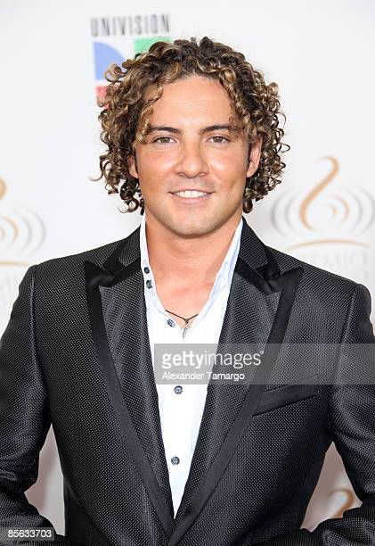 David Bisbal arrives at Univision's ''Premio Lo Nuestro a La Musica Latina'' Awards at Bank United Center on March 26 2009 in Coral Gables Florida