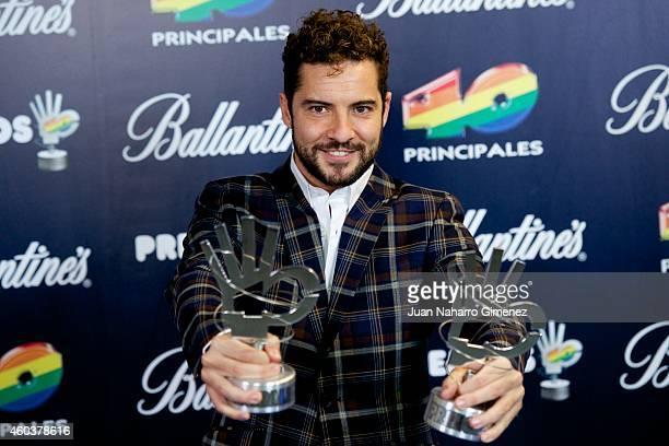 David Bisbal attends 40 Principales Awards 2014 at Palacio de los Deportes on December 12, 2014 in Madrid, Spain.