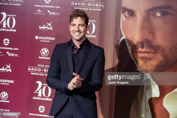 David Bisbal attends a photocall before David Bisbal's concert at Royal Theatre on June 05 2019 in Madrid Spain David Bisbal has organized a concert...