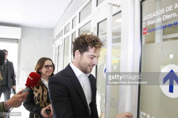 David Bisbal attends Court on April 09 2019 in Madrid Spain