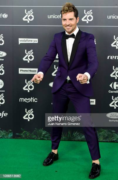 David Bisbal attends during 'LOS40 Music Awards' 2018 at WiZink Center on November 2 2018 in Madrid Spain