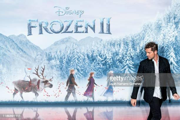 David Bisbal attends 'Frozen II' photocall at Hotel Santo Mauro on November 11 2019 in Madrid Spain