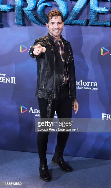 David Bisbal attends 'Frozen II' premiere at Callao Cinema on November 19 2019 in Madrid Spain
