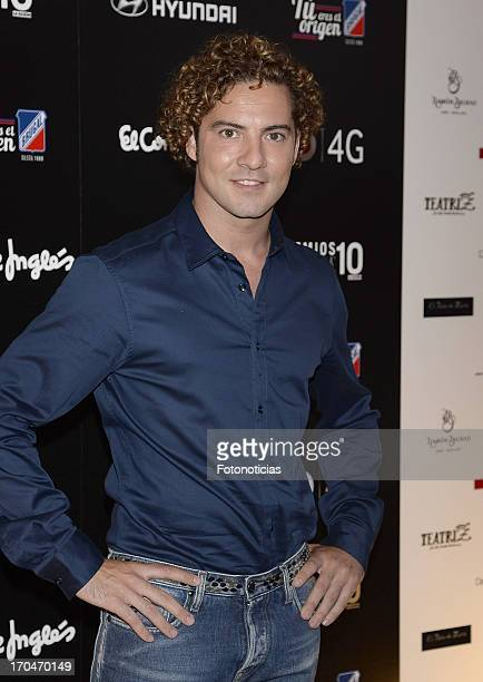 David Bisbal attends La Razon 'Lifestyle' Awards 2013 at Teatriz theatre on June 13 2013 in Madrid Spain