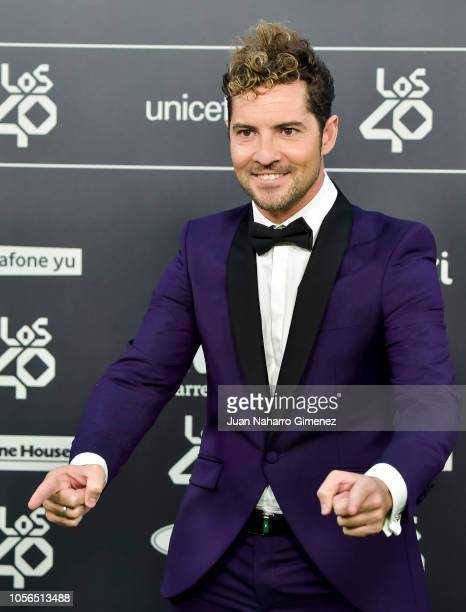 David Bisbal attends 'LOS40 Music Awards' 2018 at WiZink Center on November 2 2018 in Madrid Spain