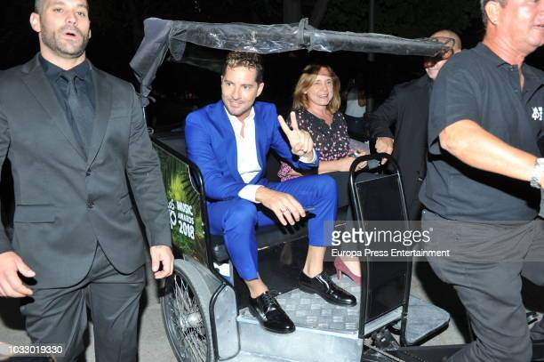 David Bisbal attends the 40 Principales Awards nominated dinner at Florida Retiro on September 13 2018 in Madrid Spain