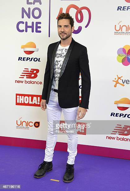 David Bisbal attends the 'Cadena 100 Por Etiopia' concert photocall at the Barclaycard Center on March 21 2015 in Madrid Spain