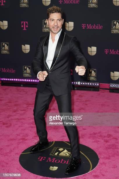 David Bisbal attends Univision's Premio Lo Nuestro 2020 at AmericanAirlines Arena on February 20 2020 in Miami Florida