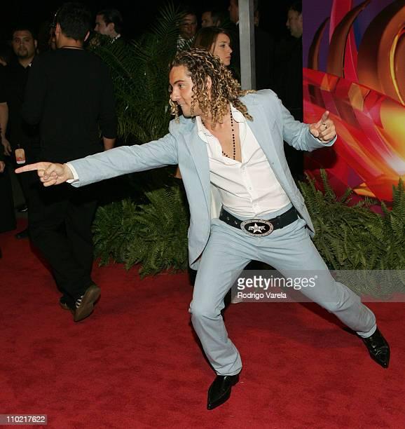 David Bisbal during 2005 Premio Lo Nuestro Awards Red Carpet at American Airlines Arena in Miami Florida United States