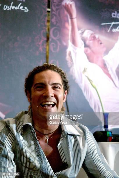 David Bisbal during David Bisbal Launches DVD Todo Por Ustedes Press Conference at RitzCarlton Hotel in Isla Verde Puerto Rico