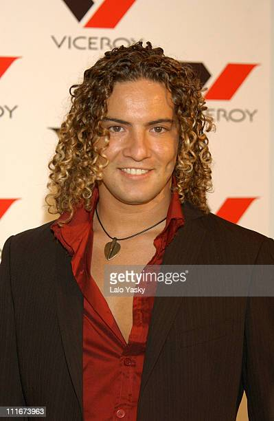 David Bisbal during David Bisbal Launches Fashion at Viceroy Building in Madrid Spain