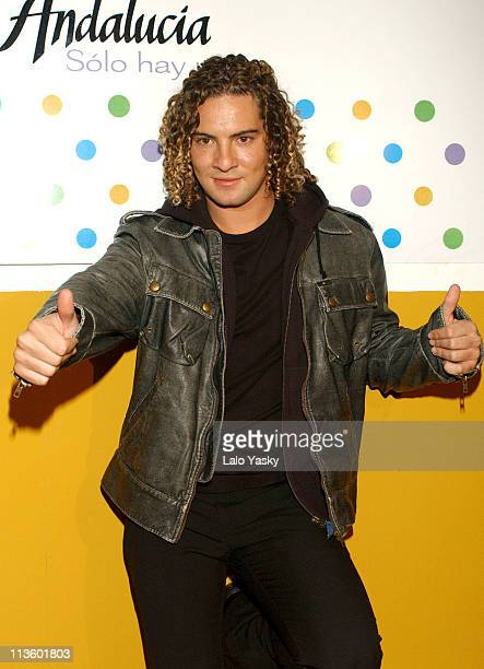 David Bisbal during David Bisbal Promotes Andalucia at the International Tourism Fair 2004 at IFEMA Exhibition Center in Madrid Spain
