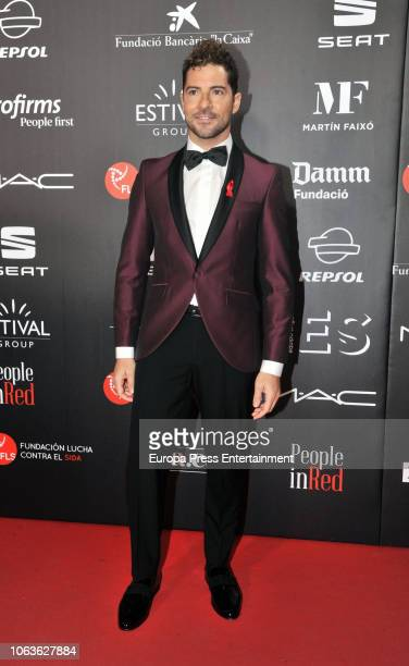David Bisbal during the photocall for 'People in Red' gala held at the Museu Nacional d'Art de Catalunya on November 19 2018 in Barcelona Spain