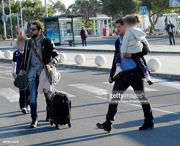 David Bisbal his brother Jose Maria Bisbal and his daughter Ella Bisbal are seen on December 23 2014 in Almeria Spain