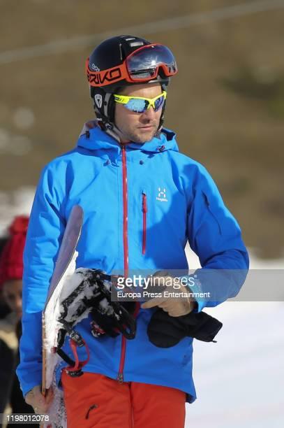 David Bisbal is seen on January 04 2020 in Baqueira Beret Spain