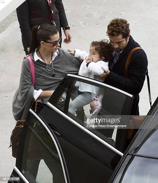 David Bisbal 'La China' Suarez and her daughter Rufina Cabre are seen on December 28 2014 in Madrid Spain