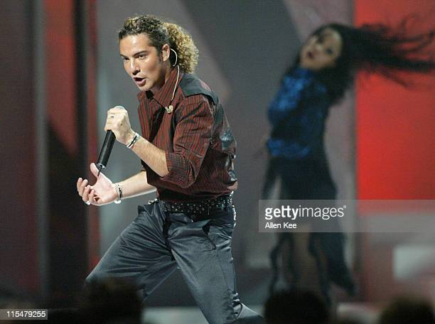 David Bisbal performs Buleria during 2004 Billboard Latin Music Awards Show at The Miami Arena in Miami Florida United States
