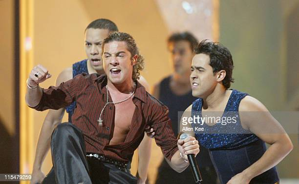 David Bisbal performs 'Buleria' during 2004 Billboard Latin Music Awards Show at The Miami Arena in Miami Florida United States