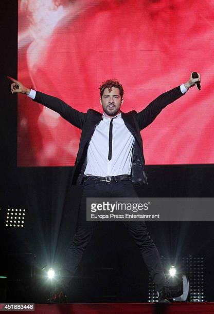 David Bisbal performs in concert in Madrid on July 3 2014 in Madrid Spain