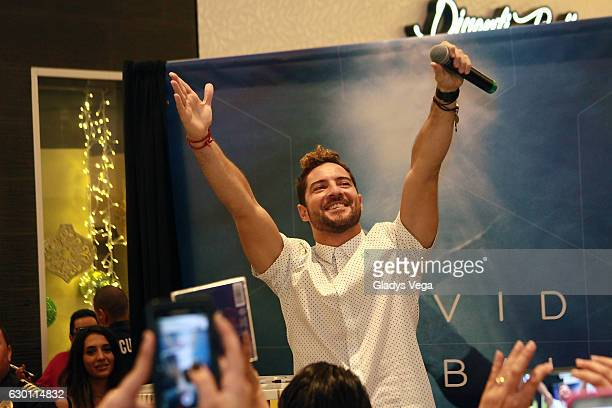 David Bisbal performs in the Showcase and Album Signing as part of the promotion of his new album 'Hijos del Mar' at The Mall of San Juan on December...