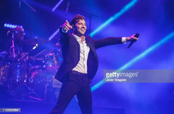 David Bisbal performs on stage at Royal Theatre on June 05 2019 in Madrid Spain This show is part of his 40th birthday party