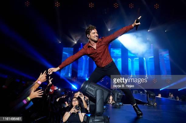 David Bisbal performs on stage during 'La Voz' concert on July 11, 2019 in Madrid, Spain.
